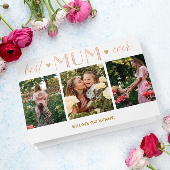 Best Mum Ever Photo Card Template