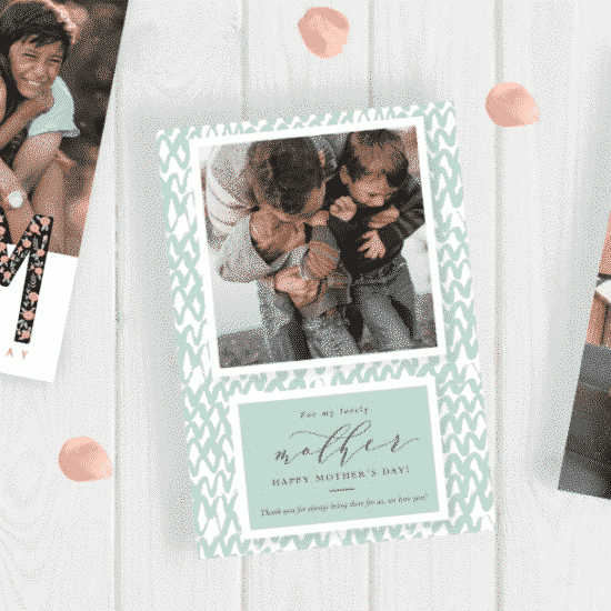 Show Mum you love her with personalised Mother's Day cards