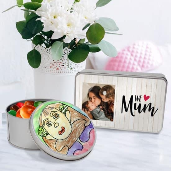 Customised tins of treasure for Mum